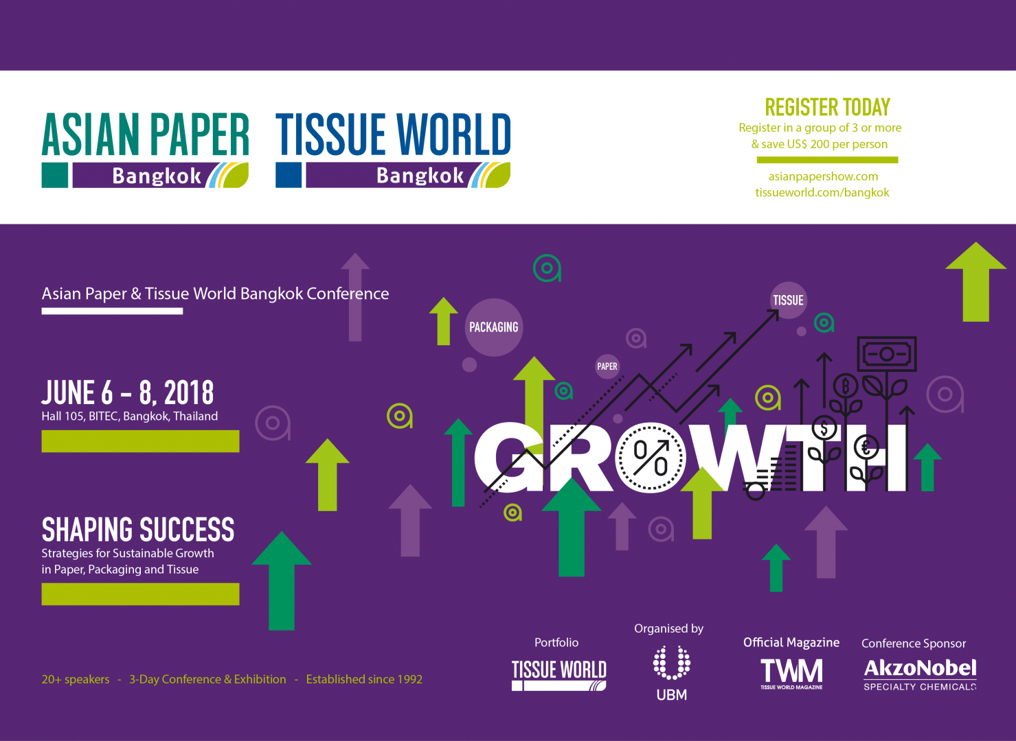 Tissue World Bangkok - BBA attends the Conference