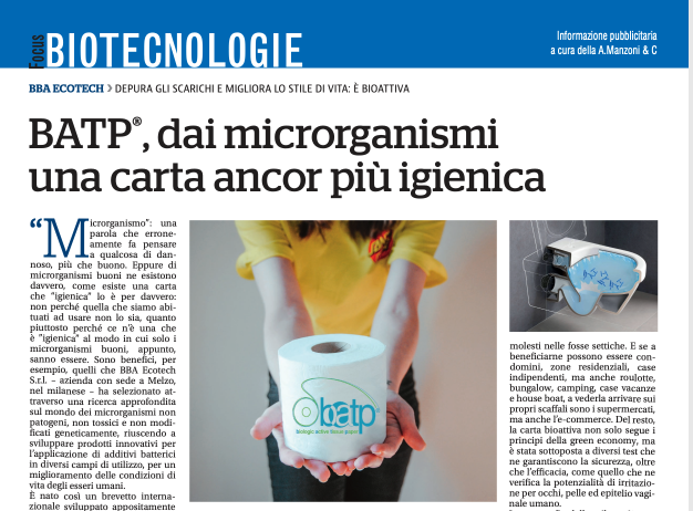 TALK ABOUT BATP Biologic Active Tissue Paper, bioactive toilet paper starting from microorganisms!