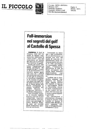Full Immersion nei segreti del golf al Castello di Spessa
